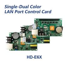 Huidu HD-E62 HD-E63 HD-E64 LED display controller single&double color P6 P10 led sign control card work with full color module lumen c power3200s single mono rg double color controller serial port with hub card led display control card