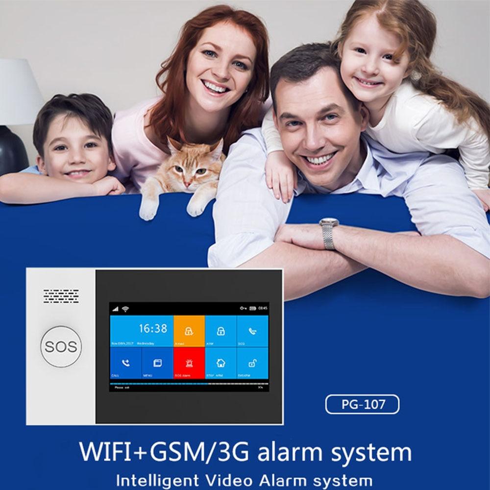 YAOSE PG-107 Wifi Gsm Home Security Alarm System App Control Remote Control window sensor With 1080P Camera kits smart alarm 2