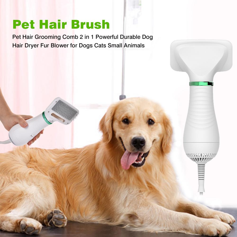 Pet Hair Dryer 2 in 1 with Comb Brush for Dogs & Cats