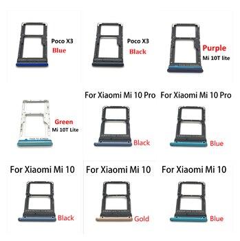 50PCS Sim Card Tray Slot Holder Adapter Socket Repair Parts For Xiaomi Mi 10 Mi10 Pro Mi 10T Lite Poco X3