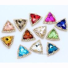 24 cores 18mm costurar em trigon chain claw definir strass cristal/diamantes/montês/jóias/vestido de casamento sapatos sacos diy guarnição