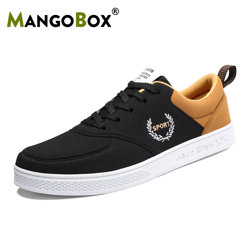 Skate-Shoes Big-Size Yellow New Cool Trend Black Flat Men For Boys 38-47