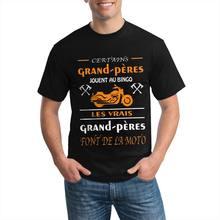 Personnalisé Les Vrais Grand Peres Fonte De La Moto Humouristique T085 Anime camisa Dos Homens T de Grandes Dimensões T-shirt Oversize T-Shirt Do Punk