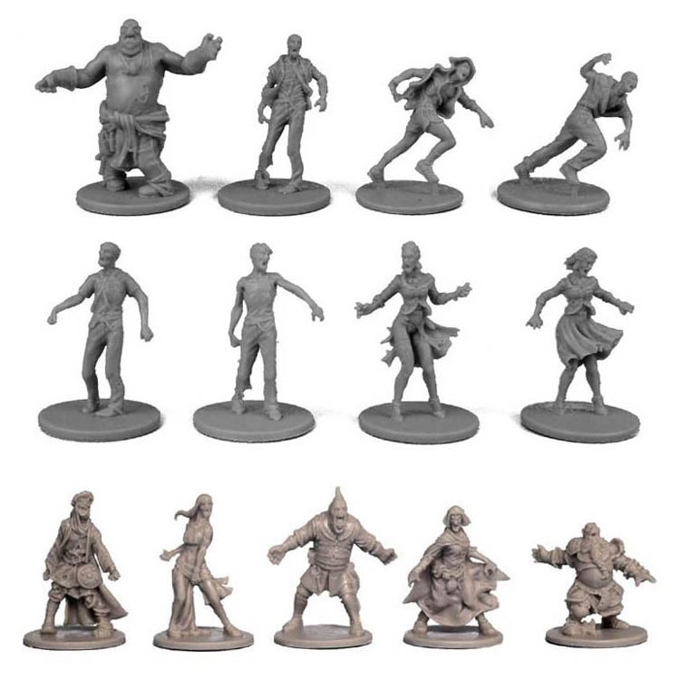 1/72 Scale Model Zombicide Resin Figure Black Death Plastic Model Kits Diy Kit Zombie Wargame Hobby Modelismo