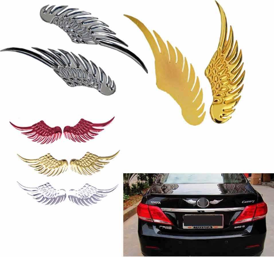 1 Pasang Metal 3D Sayap Mobil Stiker Mobil Moto Aksesoris untuk Hyundai Ix35 IX45 IX25 I20 I30 Sonata, verna, Solaris, ELANTRA, Aksen