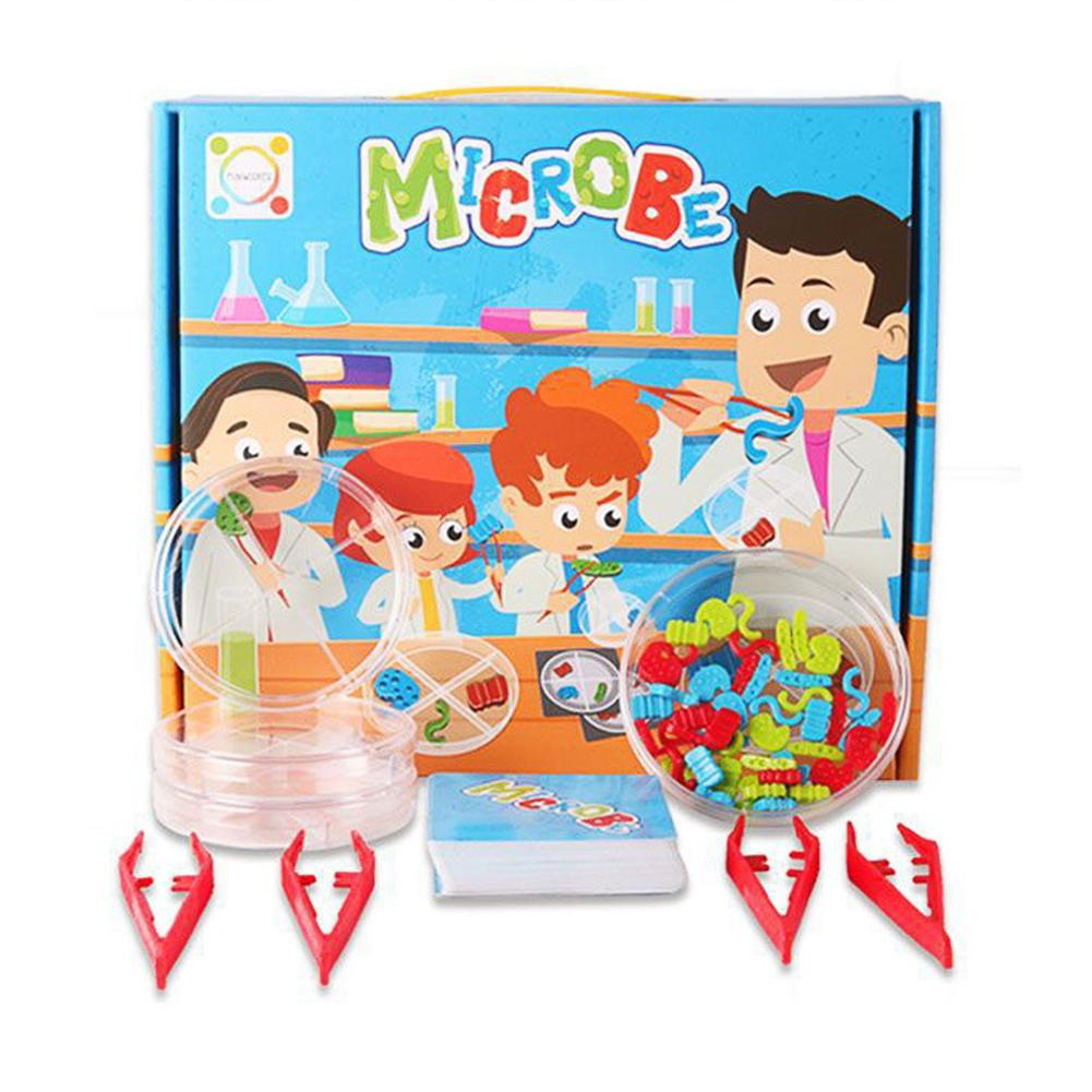 Kids Pretend Play Science Microbes Lab Experiment Education Toy Teaching Aids