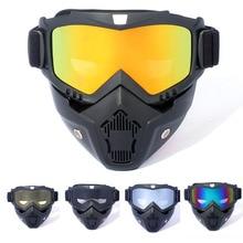 Eyewear Motorcycle-Glasses Ski-Mask Modular Uv-Protection Men Women MX ATV DETACHABLE-MOUTH-FILTER