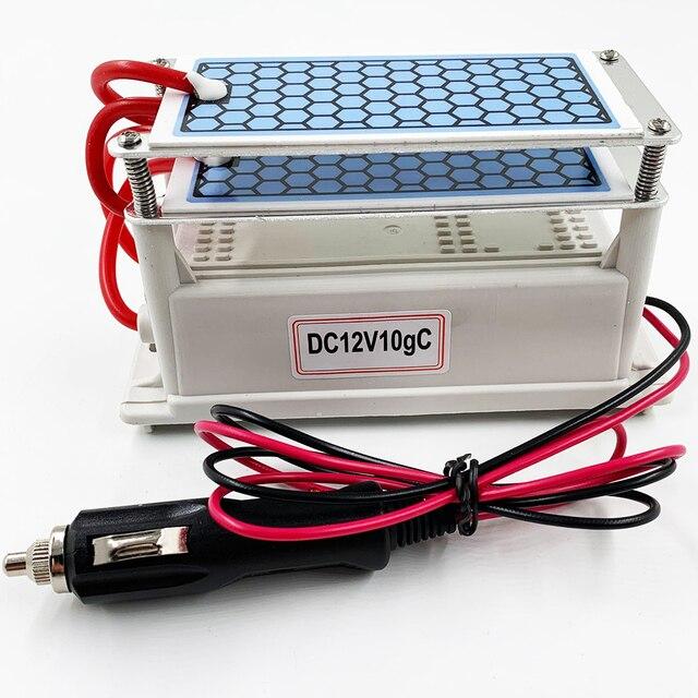 24 جرام 10 جرام المحمولة مولد أوزون 220 فولت 110 فولت 12 فولت لتنقية الهواء المعالج بالأوزون معقم للاستخدام المنزلي أو السيارة