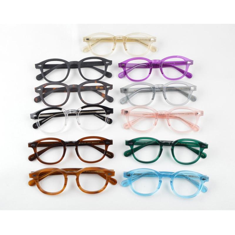 Glasses Men Woman Johnny Depp Eyeglasses Transparent Lens Brand Design Computer Goggles Male Vintage Style Optical Glasses Frame
