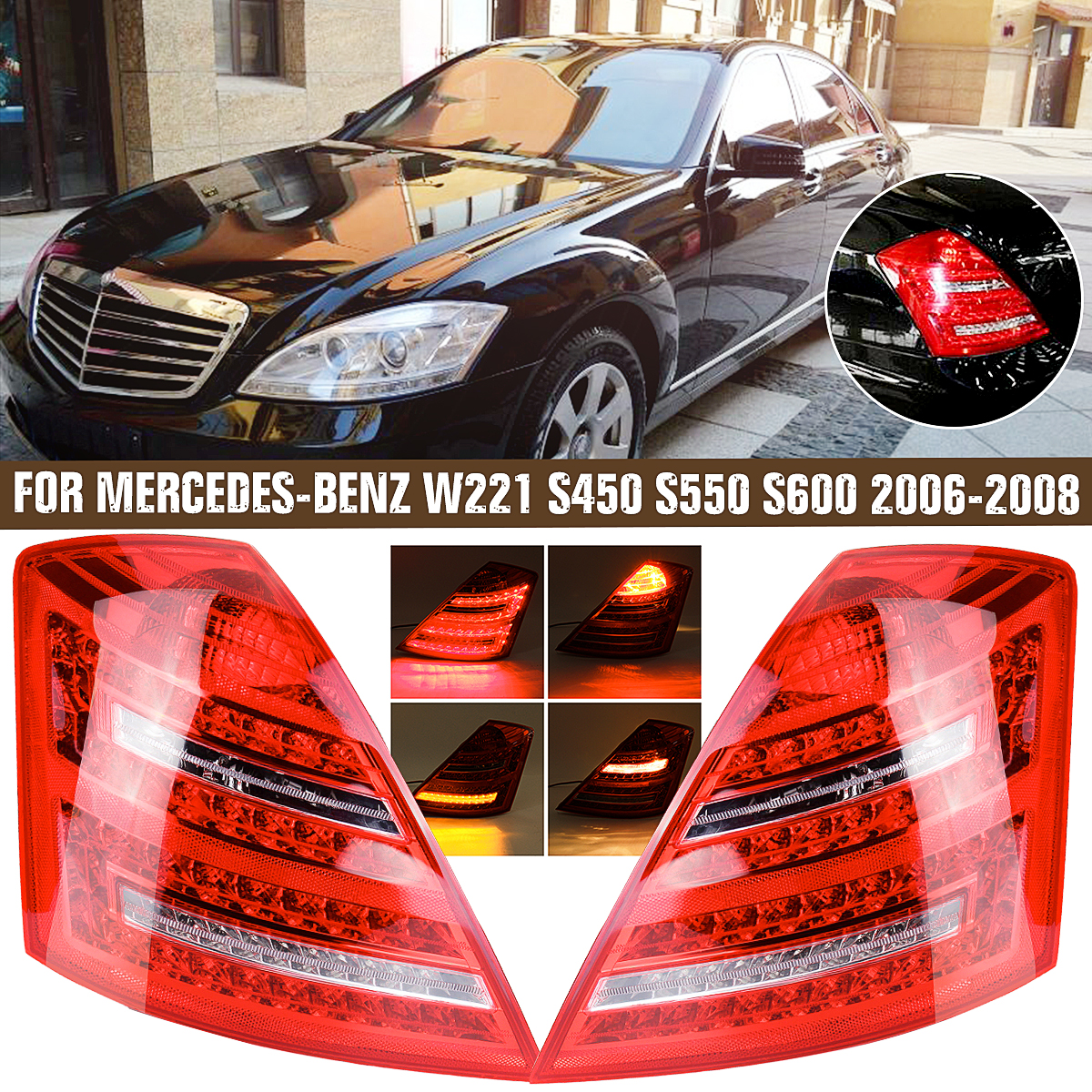 MB S-CLASS W221 2009-2013 NEW REAR TAIL LED LIGHT LAMP RIGHT O//S DRIVER