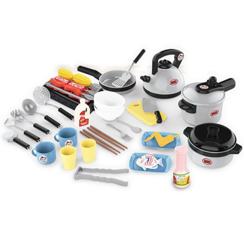 Children Play House Kids Kitchen Toy Girl Boy Educational Large Simulation Kitchenware Meal Cooking And Cooking Set children s family kitchen toy boys and girls cooking simulation family toy baby kitchenware set