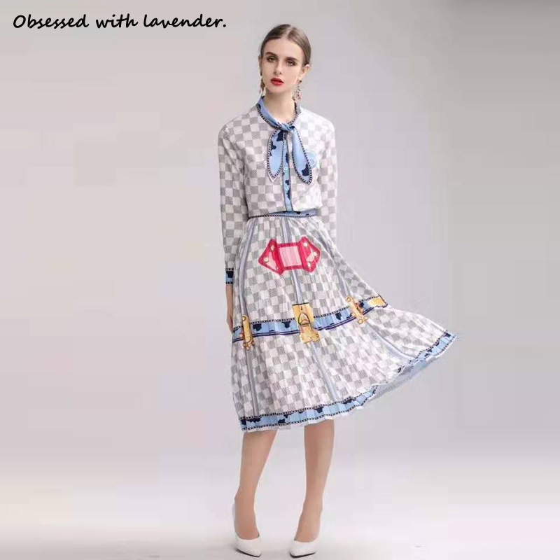 Obsessed With Lavender. New Suit Plaid Long Sleeve Shirt+dress, Sweet And Elegant, Female