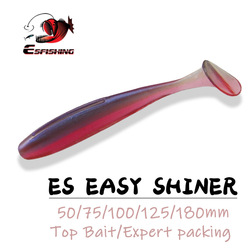 ESFISHING Fishing Lures Soft Bait Es Easy Shiner 50mm 76 100 125 180mm Big Trout Baits Lure Crankbait Iscas Artificials Pesca