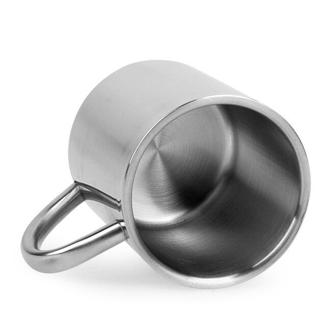 220ml Stainless Steel Mug Student Double Wall Mugs Travel Tumbler Coffee Tea Mugs Drinkware Handle Travel Cups 5