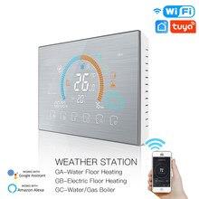 Wifi Thermostat Tuya Smart Temperatur Controller Programmierbare Boden Heizung Wasser/Gas Kessel Controller Arbeit Mit Google Hone