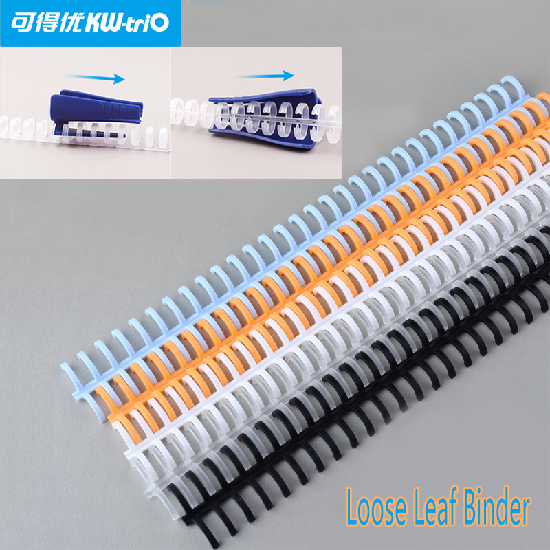 30 Hole Loose-leaf Plastic Binding Ring Spring Spiral Rings For 30 Holes A4 A5 A6 Paper Notebook Stationery Office Supplies
