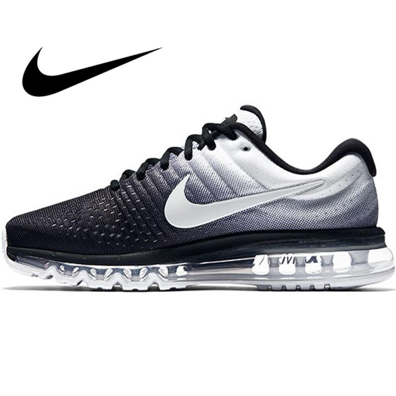 Galleria fotografica Originale <font><b>Nike</b></font> AIR MAX 2017 uomo Runningg Scarpe Sport Outdoor Mesh Traspirante Scarpe Da Ginnastica Atletica Designer di Calzature 849559-010