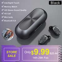 SIMVICT W1 TWS Bluetooth 5.0 écouteurs sans fil en cours d'exécution écouteurs HIFI stéréo écouteurs In-ear sport casque avec micro pour téléphone