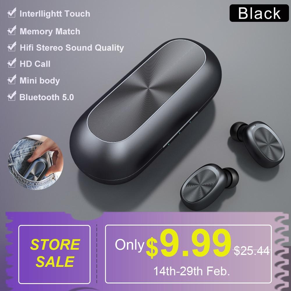 SIMVICT W1 TWS Bluetooth 5.0 Earphones Wireless Running Earbuds HIFI Stereo Earphone In ear Sports Headset with Mic for PhoneBluetooth Earphones & Headphones   -