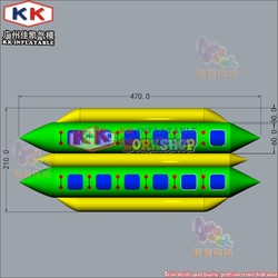 Double tubes inflatable banana boat for sale, water boat price
