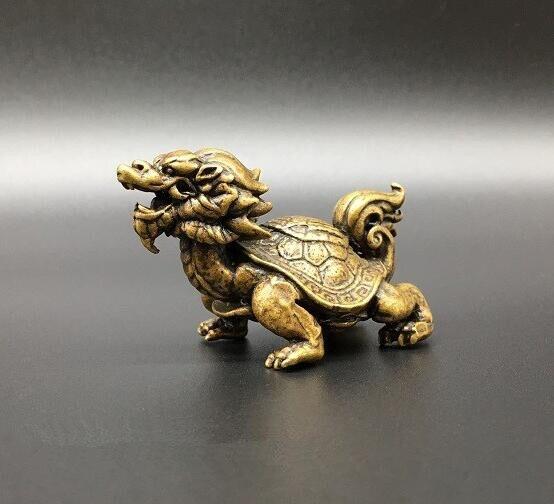 Ev ve Bahçe'ten Statü ve Heykelleri'de Çin Pirinç ejderha kaplumbağa Küçük heykel title=