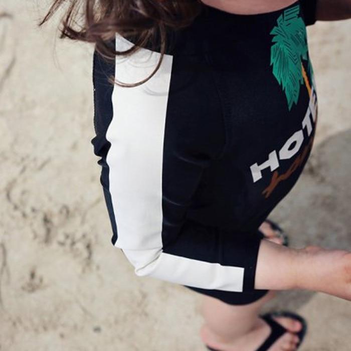 BOY'S Girls Universal Bathing Suit KID'S Swimwear With Hat CHILDREN'S Swimsuit Long Sleeve Sun-resistant Snorkeling Swimwear