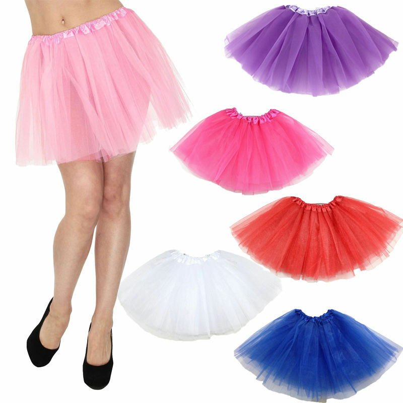 Hot Sale Fluffy Adult Novelty Colorful Skirts Women Sweet Cute Tulle Tutu Dance Ballet Mini Skirts Ladies Solid Color Mini Skirt