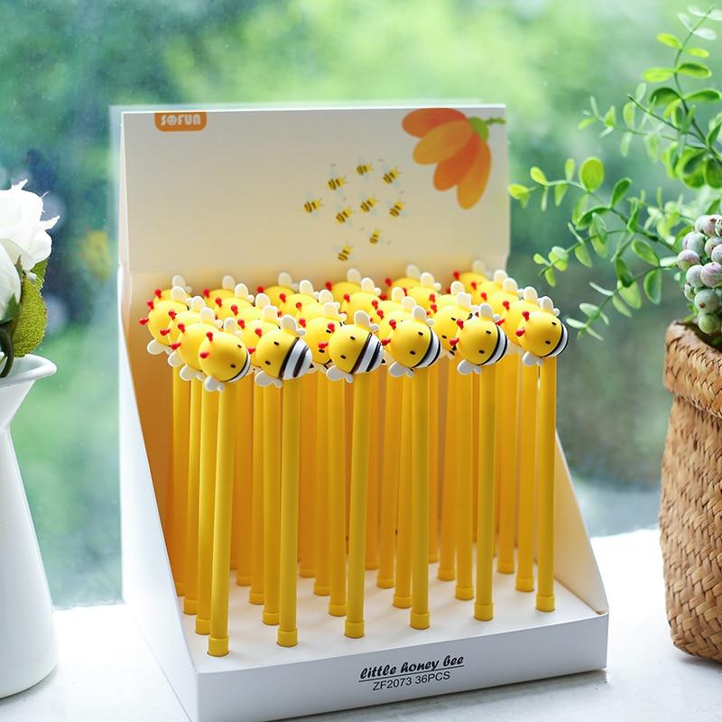 1X Cute Little Honey Bee Gel Pen Writing Signing Pen School Office Supply Kids Gift Stationery 0.5mm Blue Ink
