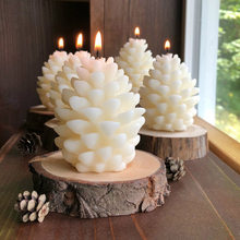 3d natal pinho cone silicone vela molde diy artesanal aromaterapia velas de cera de abelha pinha vela que faz o molde