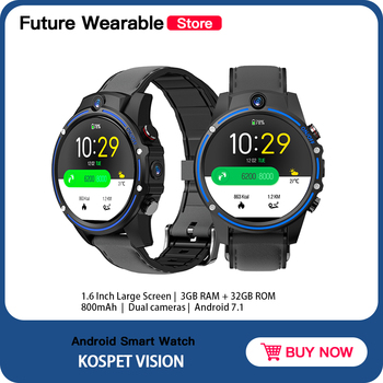 """Original Kospet Vision 3GB 32GB Smart Watch 5.0MP Dual Camera 800mAh Bluetooth 1.6"""" IPS Android Watch Support For Android IOS"""