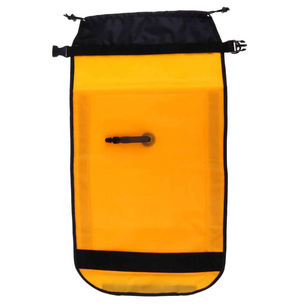 Yellow Reflective Sea Kayak Rescue Paddle Float Kayak Canoe Floating Webbing