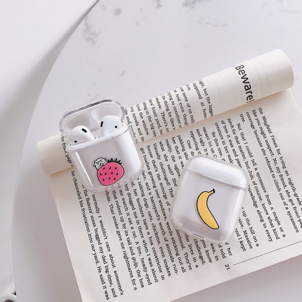 Cartoon Transparent Case For AirPods Case Cute Pattern Protective Cover Bluetooth Wireless Earphone Case For Air pods2 Hard Case in Earphone Accessories from Consumer Electronics
