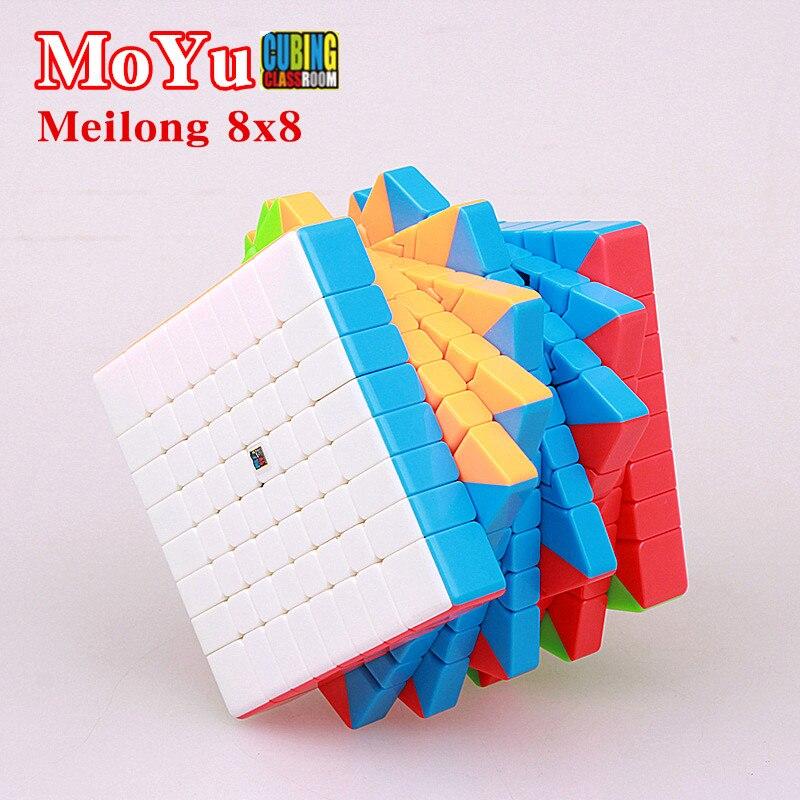 MOYU Meilong 8x8x8 cube de vitesse magique 8 couches sans autocollant cubo Magico Cubing classe Puzzle cubes jouets professionnels pour enfants