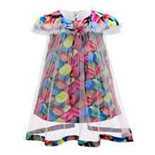 2020 newborn baby girls flower kids dress for lace cake tutu halloween party princess dress birthday party event prom dress 0 8y 2020 Summer Girls Clothing Girls Dress Mesh Cute Kids Dress for Girls Costume Princess Birthday Party Tutu Dress 3-10Y