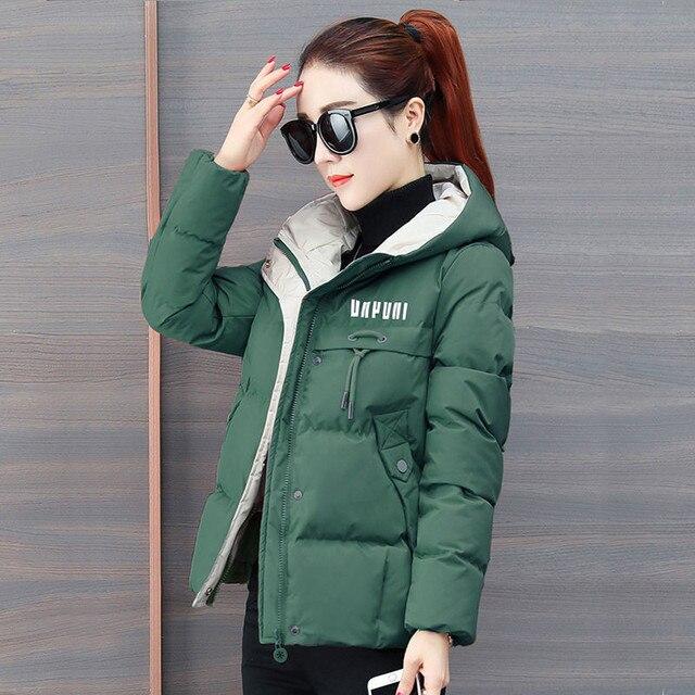 2020 nouvelle veste d'hiver femmes Parkas à capuche épais vers le bas coton rembourré Parka femme veste courte manteau mince vêtements d'extérieur chauds P772 6