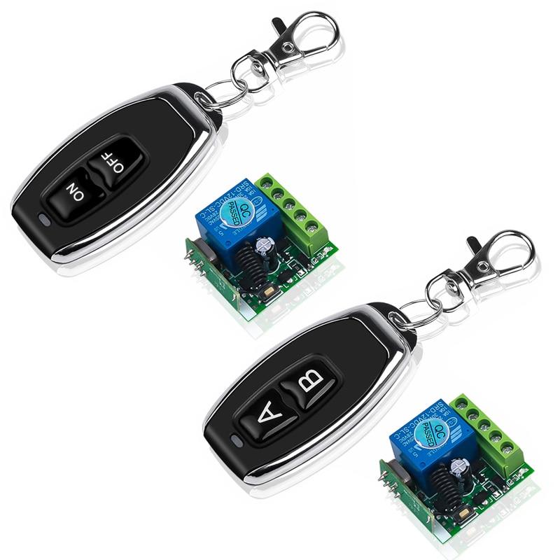 Quente dc12v 10a relé 1 ch sem fio rf interruptor de controle remoto transmissor com módulo receptor 433mhz led controle remoto