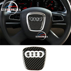For Audi A3 A4 B8 A5 A6 C7 A8 Q5 Q7 5pcs Carbon Fiber Steering Wheel Center trim