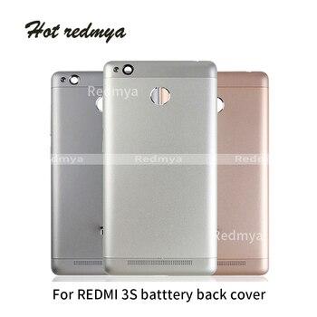 Carcasa completa para Xiaomi Redmi 3S Cubierta trasera de Metal cubierta de batería puerta trasera caja de repuesto piezas de reparación