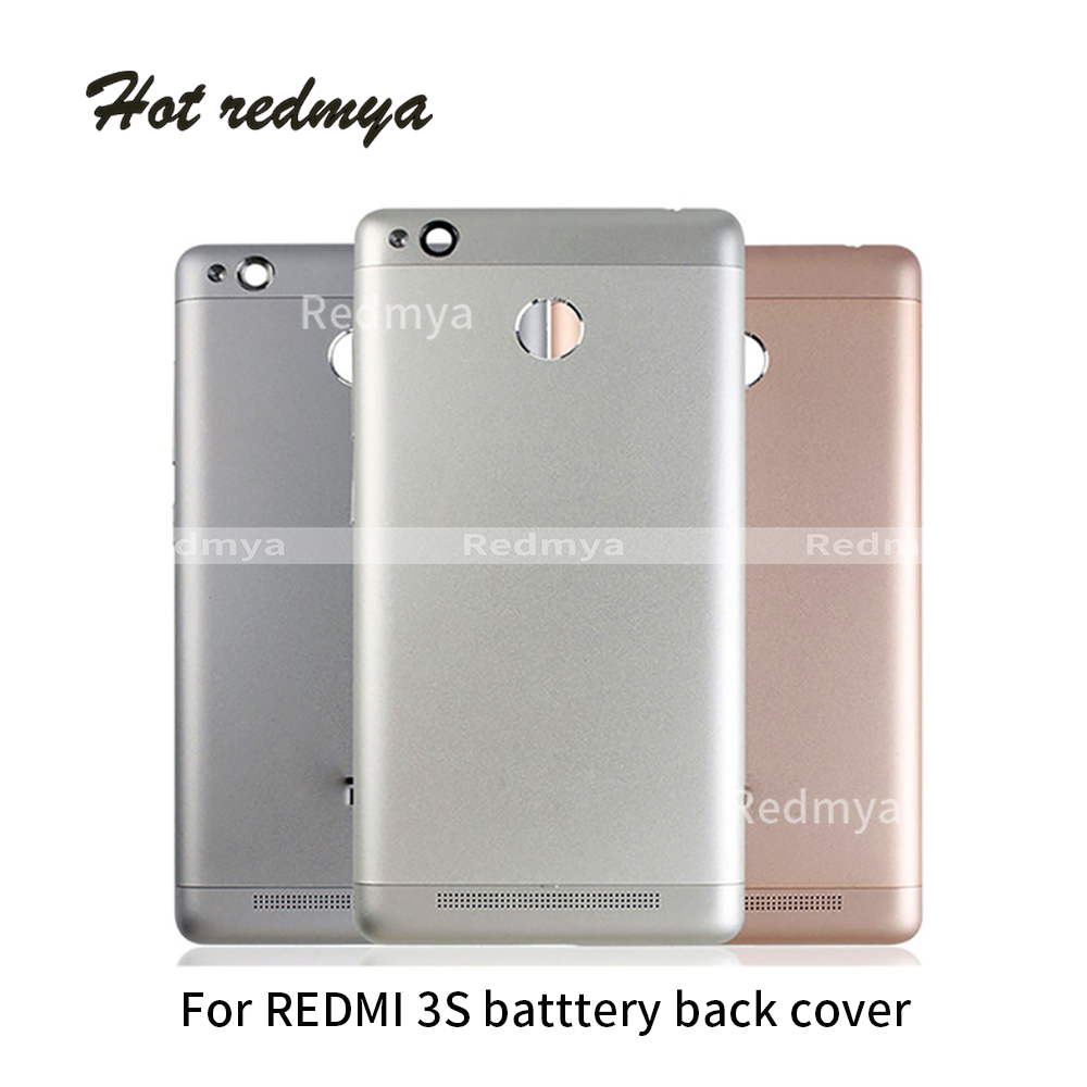 Full Housing For Xiaomi <font><b>Redmi</b></font> <font><b>3S</b></font> Back <font><b>Cover</b></font> Metal <font><b>Battery</b></font> <font><b>Cover</b></font> Door Rear Case Replacement Repair Parts image