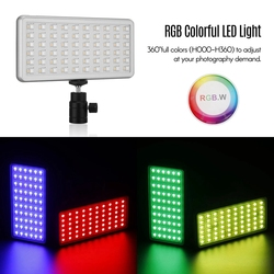 NiceFoto TC-168 Pocket Size LED RGB Light Portable Fill-In Video Lighting for Portrait Product Photography