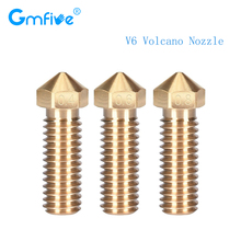GmFive High Quality V6 Volcano Nozzle 0.4/0.6/0.8MM J-head Hotend Extruder Brass 1.75MM Filament 3D Printer Parts