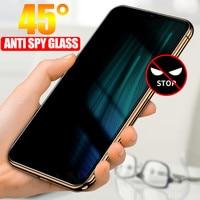 AntiSpy de vidrio templado para Xiaomi Redmi Nota 9 8 10 Pro 9S 8T 8A 9A de Protector de pantalla de privacidad Mi 9T 11 Lite 10T Pro Poco F2 X3 M3