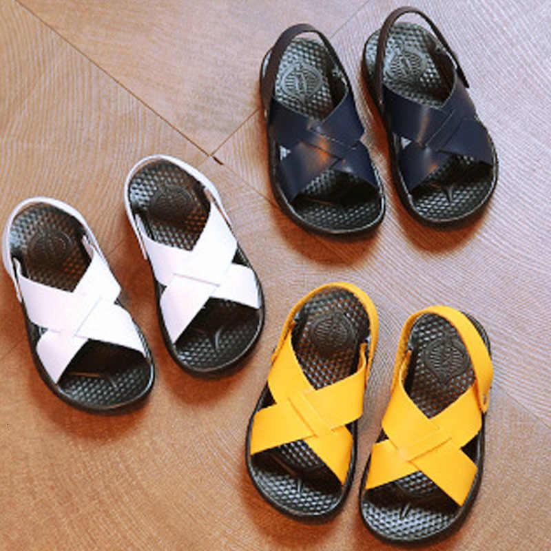 Kinderen Zomer Schoenen 2019 Nieuwe Mode Trend Lederen Sandalen Sneakers Sportkleding Voor Jongens Eenvoudige Schoenen