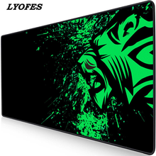 Mouse-Pad Computer Extra-Large Big with Locking-Edge Rubber Anti-Slip Natural