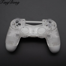 Crystal Clear Front Housing Shell Faceplate Cover Back White Case for Playstation 4 Pro PS4 Pro V2 Controller CUH ZCT2 JDM 040