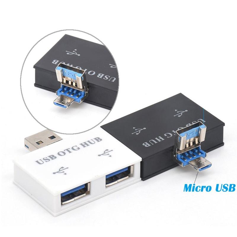 Mini USB Hub USB 2.0 2 Port HUB USB Charger 2in1 OTG HUB Laptop Micro USB Adapter Charging Port For Android Smart Phone Computer