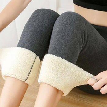 NORMOV Women's Winter Warm Leggings Super-thick High Stretch Lamb Cashmere Leggins High Waist Skinny Trousers 2