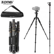 Zomei T80/T70/Q222/Q555/Q666/Q666C Профессиональный штатив для путешествий портативный регулируемый штатив для Canon беззеркальных/DSLR камер