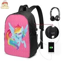 My Little Pony Backpack Backpacks High quality Street Bag Teenage Print Multifunction Bags