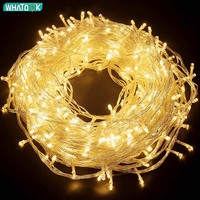 Ghirlanda LED String Lights 10m 30m 50m 100m albero di natale decorazione di cerimonia nuziale impermeabile fata luce coperta esterna 220V lampada ue